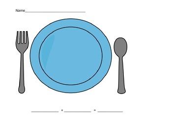 addition plate clip art