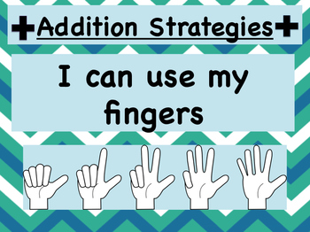 addition strategies posters 11x17