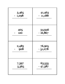 addition/subtraction problems