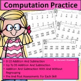 Special Education MATH assessments or RTI: Addition and Su