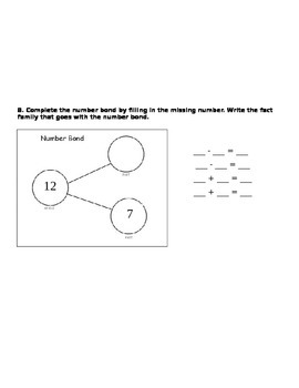 addition with 3 addends , addition word problem, and number bond asssesment