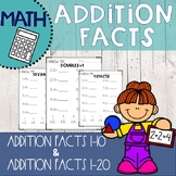 addition worksheets for first grade