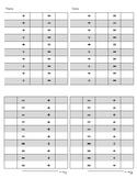Montessori-Simple additon recording-1/4 sheet x 4