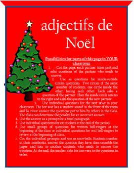 adjectifs de Noel FRENCH