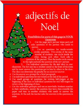 adjectifs de Noel FRENCH