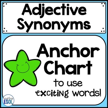 Synonyms Anchor Chart Teaching Resources Teachers Pay Teachers