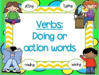 adjective, noun and verb grammar posters