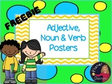 FREEBIE adjective, noun and verb grammar posters