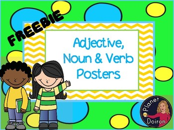 adjective, noun and verb grammar posters