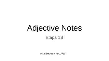 adjective practice