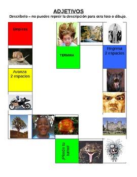 adjetivos juego adjectives game