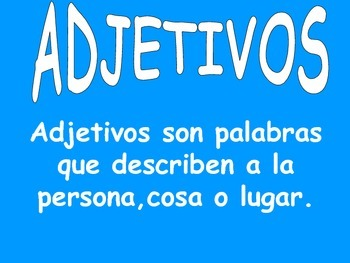 adjetivos/adjectives