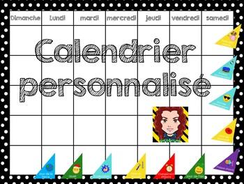 calendrier modifiable (nécessite menu du jour)