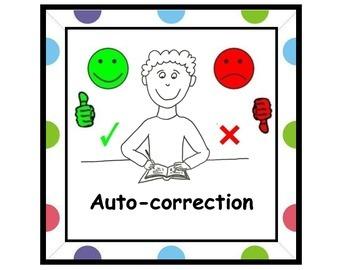 affiche pour centre d'auto-correction polka dot