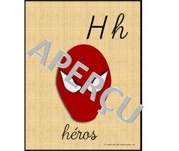 affiches de l'alphabet des contes (cursif)