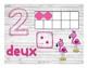 Affiches des nombres de 1 à 10 avec plusieurs représentations (flamants roses)