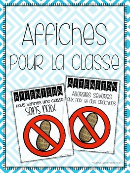 Affiches [sans noix] {FRENCH Nut-Free Posters}