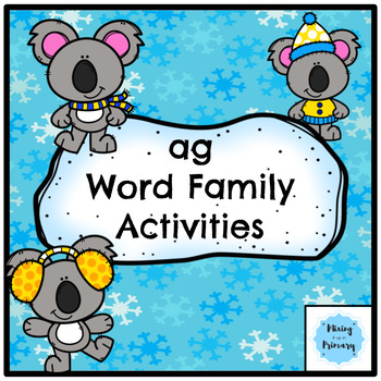 Short a - ag Word Family Activities