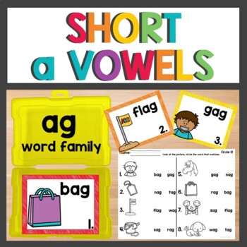 ag Word Family Phonics Pack