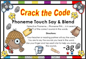 ag word family phonemes Crack the Code