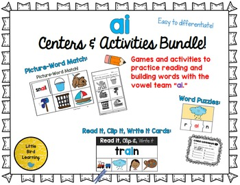 AI Centers and Activities Bundle