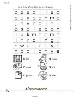 'ai' Flipbook ~ 5 centre activities in the one flipbook!