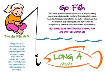 ai Go Fish (long a) - Literacy Center Game