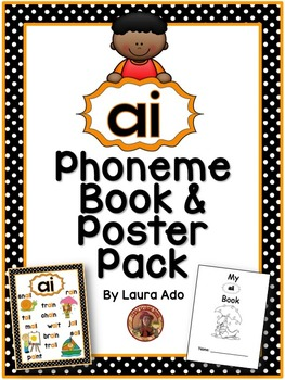 ai Phonogram Book & Poster Pack with Phonics Practice