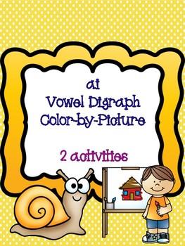 ai Vowel Digraph Color-by-Picture