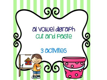ai Vowel Digraph Cut and Paste