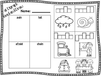 ai Vowel Digraph Read-and-Draw