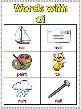 ai Vowel Team Print and Go Printables