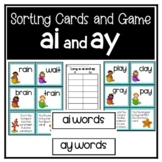 ai and ay Game and Sorting Cards