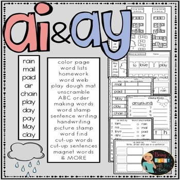 ai and ay  Hands-on Spelling and Phonics