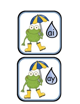 ai and ay Rainy Day Frogs Sort