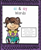 ai and ay Words Literacy Center