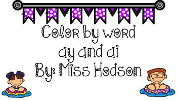 ai and ay color by word