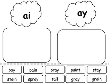 ai and ay word work