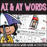 AI and AY Word Work Activities