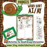 ai ay Word Sort - File Folder Word Sorts