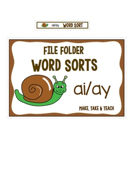 ai ay Word Sort - File Folder Word Sorts