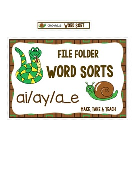 ai ay a_e Word Sort - File Folder Word Sorts