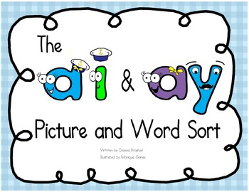 ai ay picture and word sort