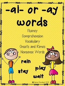 ai or ay - fluency and comprehension
