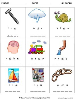 ai phonics lesson plans, worksheets and other teaching resources