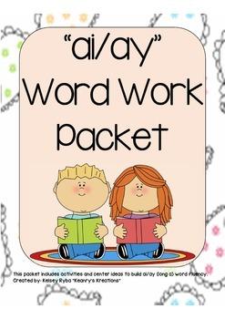 ai/ay Word Work Packet