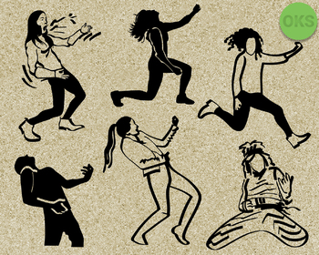 air guitar SVG cut files, DXF, vector EPS cutting file instant download