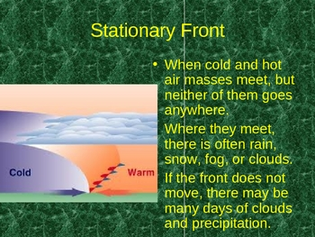 air masses, fronts, and weather they bring