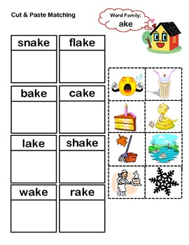 ake Word Family Packet
