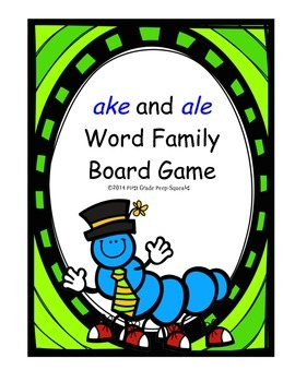 ake and ale Word Family Board Game